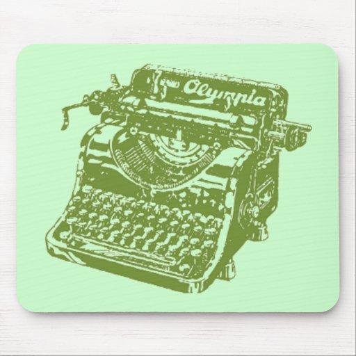 Vintage Green Typewriter Mouse Pad