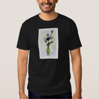 Vintage Green Vase with flowers Tee Shirt