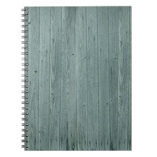 Vintage Green Wood Pattern Spiral Notebook