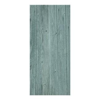 Vintage Green Wood Pattern Rack Card