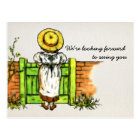 Vintage Greenaway Reunion or Party Save the Date Postcard
