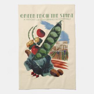 Vintage Greenbelt kitchen towel