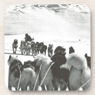 Vintage Greenland arctic dog teams Coaster