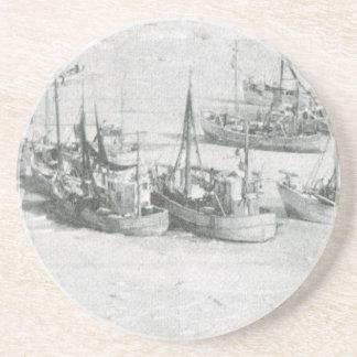Vintage Greenland Arctic Fishing Fleet Drink Coasters