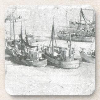 Vintage Greenland Arctic Fishing Fleet Beverage Coasters