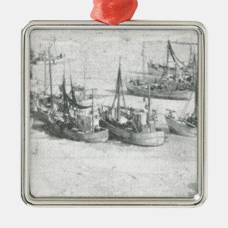 Vintage Greenland, Arctic Fishing Fleet Metal Ornament