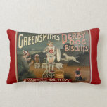Vintage Greensmith's Dog Biscuit Throw Pillow