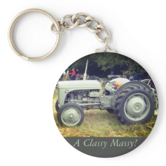 Vintage greeny Gray massey fergison tractor photo Keychain