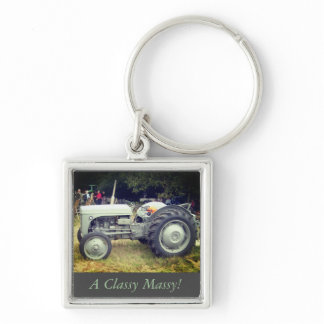 Vintage greeny Gray massey fergison tractor photo Keychain
