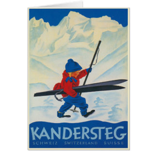 Vintage Greeting Card from the Swiss Alps