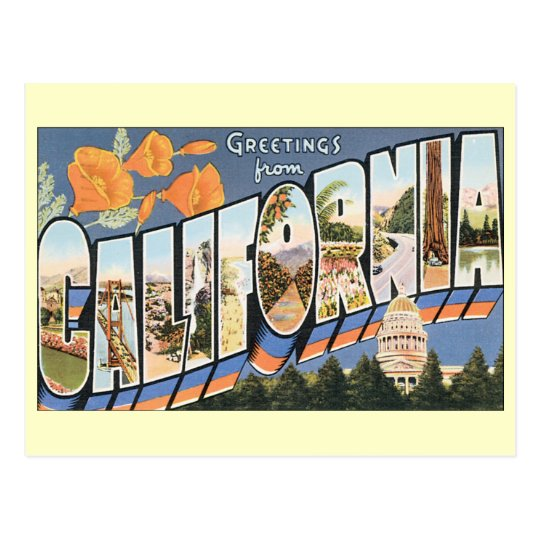 Vintage Greetings California, Change of Address Postcard