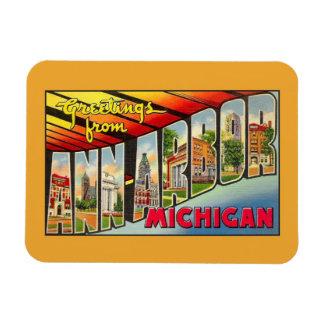 Vintage greetings from Ann Arbor MI Magnet