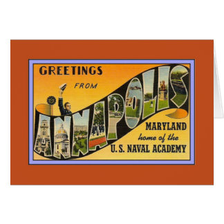 Vintage Greetings from Annapolis MD Card