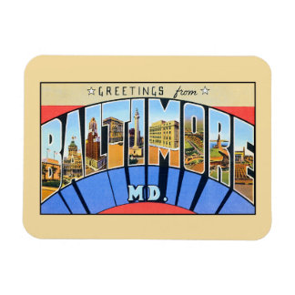 Vintage greetings from Baltimore MD. Rectangular Photo Magnet