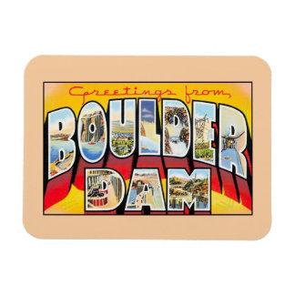 Vintage greetings from Boulder (Hoover) Dam Nevada Rectangular Photo Magnet