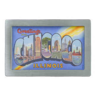 Vintage Greetings from Chicago Belt Buckle