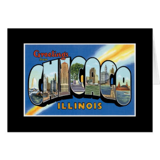 Vintage Greetings from Chicago Illinois Card