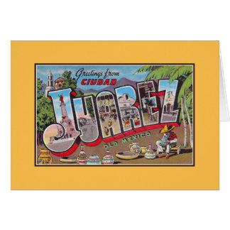 Vintage greetings from Ciudad Juarez Old Mexico Card