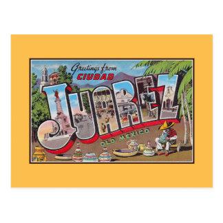 Vintage greetings from Ciudad Juarez Old Mexico Postcard