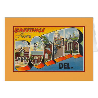 Vintage greetings from Dover Delaware Greeting Card
