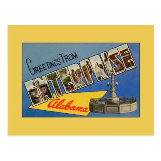 Vintage greetings from Enterprise AL Postcard