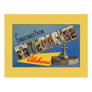 Vintage greetings from Enterprise AL Postcard