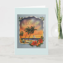 Vintage Greetings From Florida Christmas Card