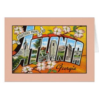 Vintage greetings from Georgia Atlanta Greeting Card
