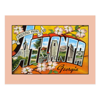 Vintage greetings from Georgia Atlanta Postcard