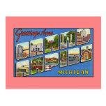 Vintage greetings from Grand Rapids MI Postcard