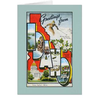 Vintage greetings from Idaho Card
