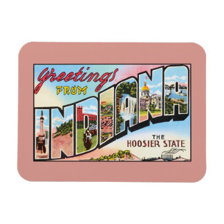 Vintage greetings from Indiana Rectangular Photo Magnet