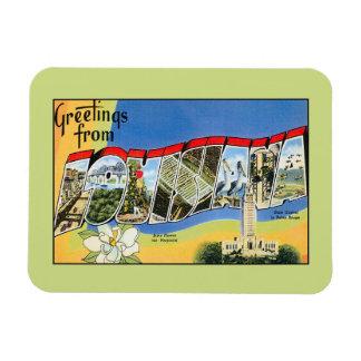Vintage greetings from Louisiana Rectangular Photo Magnet