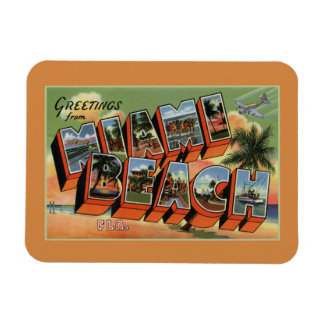 Vintage greetings from Miami Beach Magnet