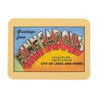 Vintage greetings from Minneapolis Minnesota Magnet