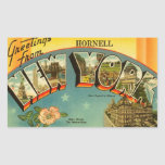 Vintage Greetings from New York Rectangle Stickers