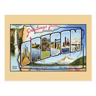 Vintage greetings from Oregon Postcard