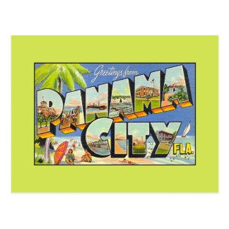 Vintage greetings from Panama City FLA Postcard