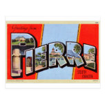 Vintage Greetings From Pierre, SD Letter Postcard