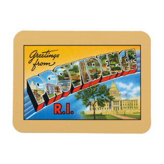 Vintage greetings from Providence Rhode Island Magnet