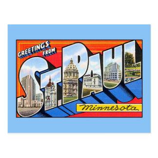 Vintage greetings from Saint (St.) Paul Minnesota Postcard