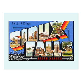 Vintage greetings from Sioux Falls South Dakota Postcard