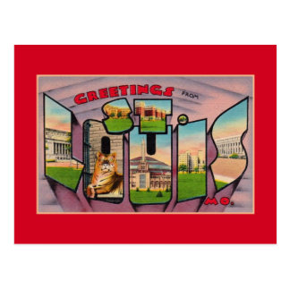 Vintage Greetings from St. Louis MO Postcard