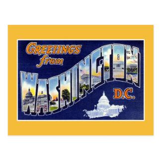 Vintage greetings from Washington DC Postcard