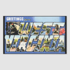 Vintage Greetings from West Virginia Rectangular Sticker