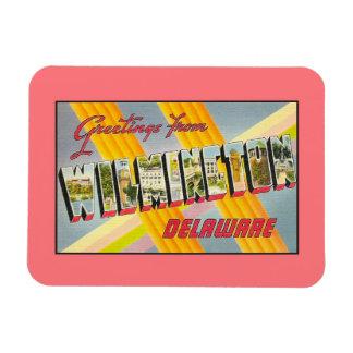 Vintage greetings from Wilmington DE Vinyl Magnet