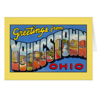 Vintage greetings from Youngstown Ohio Card