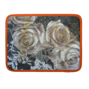 "Beach Themed Vintage grey and gold roses Macbook Pro 13"" Sleeve For MacBook Pro"