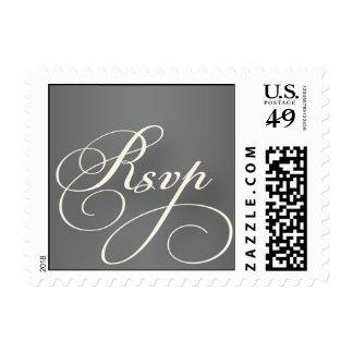 Vintage Grey and Ivory rsvp stamp