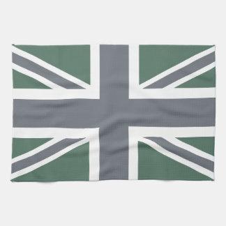 Vintage Grey Classic Union Jack British(UK) Flag Hand Towel